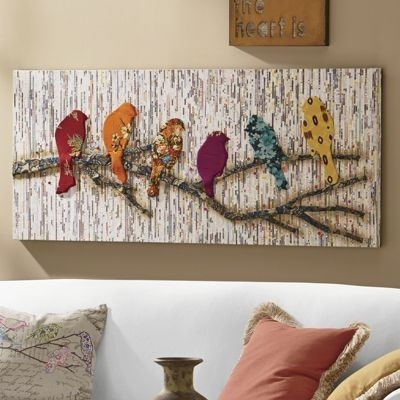 383 Best Art Images On Pinterest | Canvas Art Prints, Decorative Pertaining To Fabric Bird Wall Art (View 1 of 15)