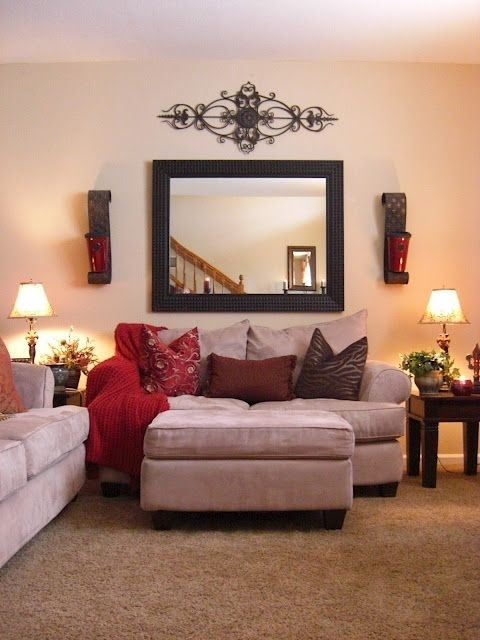 39 Best Burgundy Decor Images On Pinterest | Burgundy Living Room Within Wall Accents For Narrow Room (Photo 15 of 15)