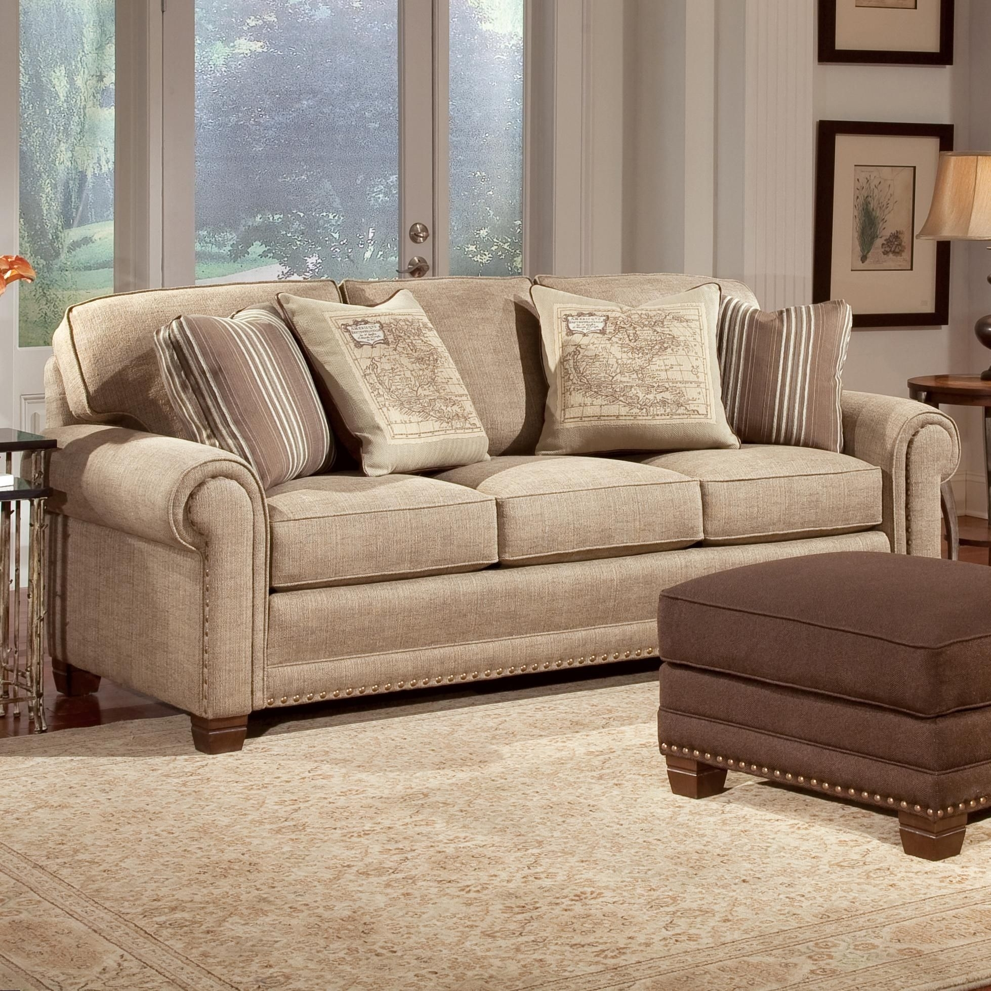 393 Traditional Stationary Sofapeter Lorentz Sofa In Great Room Inside Maryland Sofas (View 10 of 10)