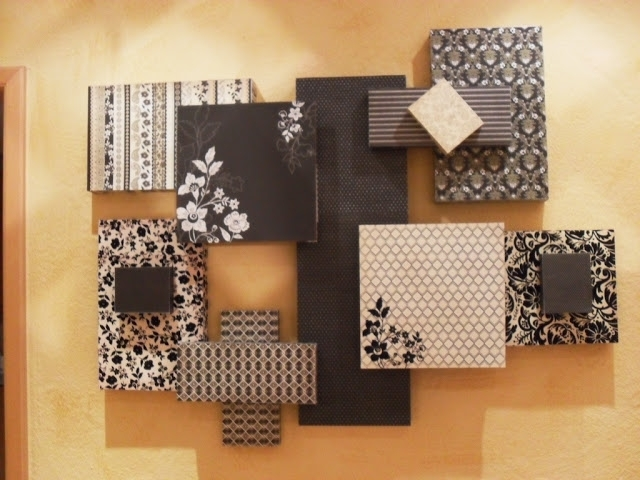 3D Wall Art Made With Scrapbook Paper And Styrofoam! | One Day At Intended For Fabric Wrapped Styrofoam Wall Art (Photo 9 of 15)