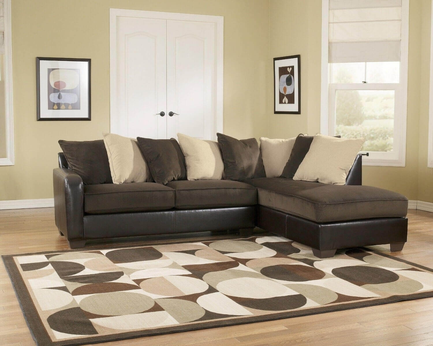 3Pc Euro Design Dark Gray Microfiber Sectional Sofa • Sectional Sofa In Sectional Sofas Under  (Image 1 of 10)