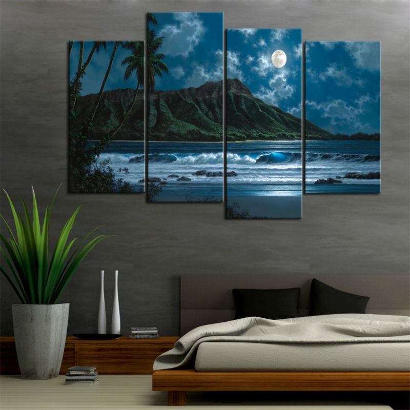 4 Piece Canvas – Chinese Goods Catalog – Chinaprices Regarding Hawaii Canvas Wall Art (Image 2 of 15)