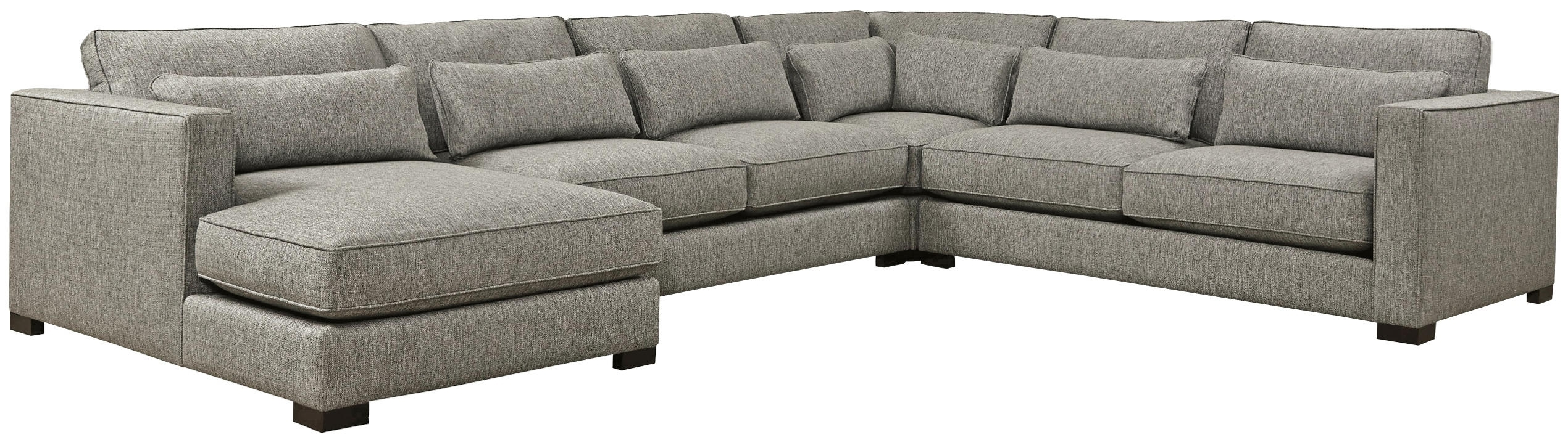 4 Piece Sectional | Soft Fabrics, Detroit And Pillows In Sectional Sofas Art Van (View 7 of 10)