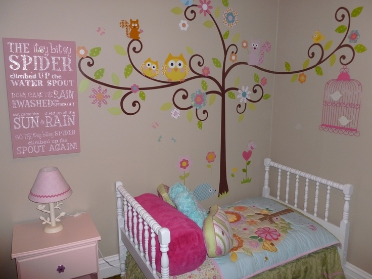 40 Bold Inspiration Wall Decor Girls Room | Panfan Site Inside Girl Nursery Wall Accents (View 11 of 15)