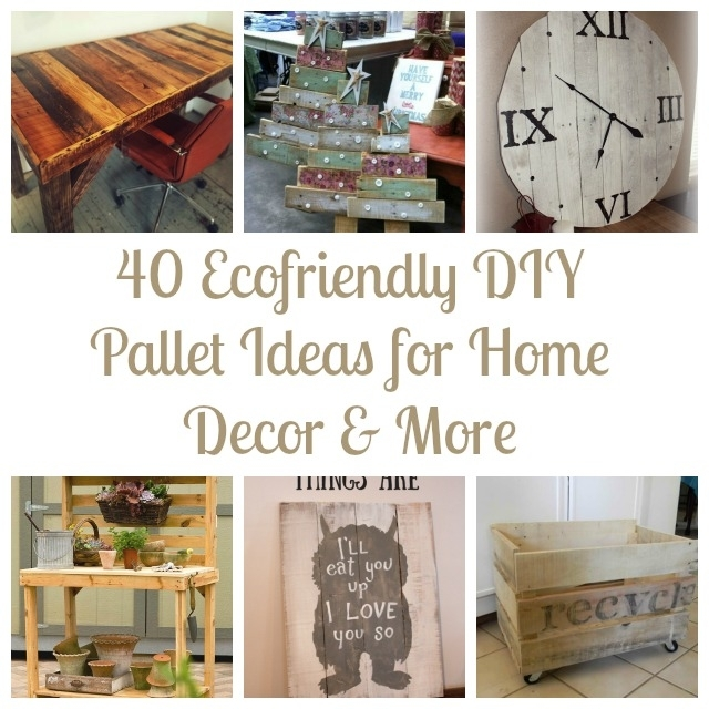 40 Ecofriendly Diy Pallet Ideas For Home Decor & More Pertaining To Wall Accents Made From Pallets (Image 8 of 15)