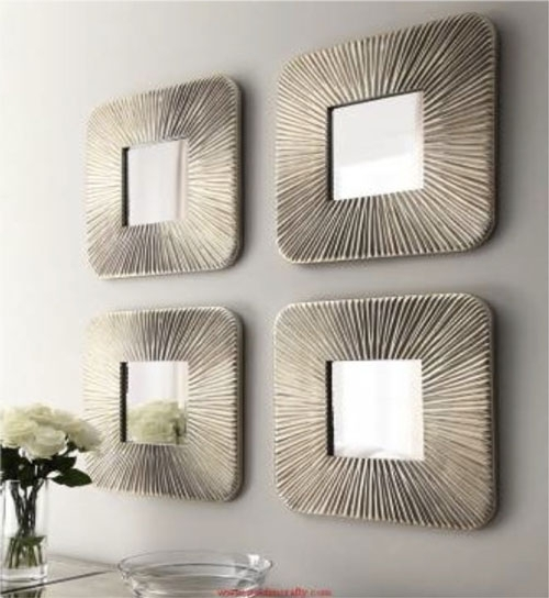 40 Glamorous Wall Mirror Sets | Panfan Site Within Mirror Sets Wall Accents (Image 3 of 15)