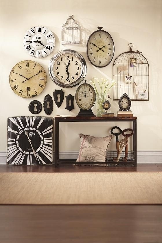 40 Homey Design Clock Wall Decor | Panfan Site For Clock Wall Accents (Photo 1 of 15)