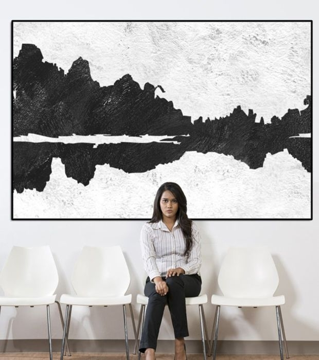 40 Pretty Black And White Wall Pictures | Panfan Site With Regard To Black And White Fabric Wall Art (View 15 of 15)