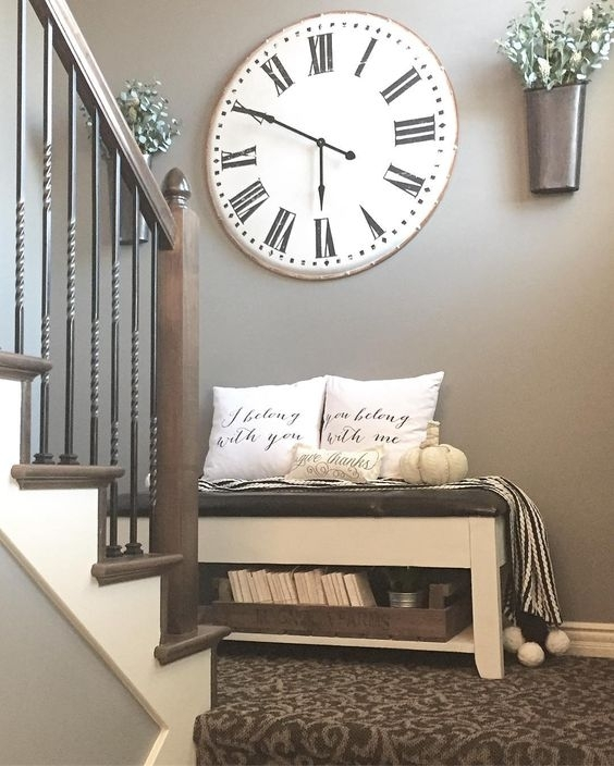 40 Rustic Wall Decor Diy Ideas 2017 For Clock Wall Accents (Image 6 of 15)