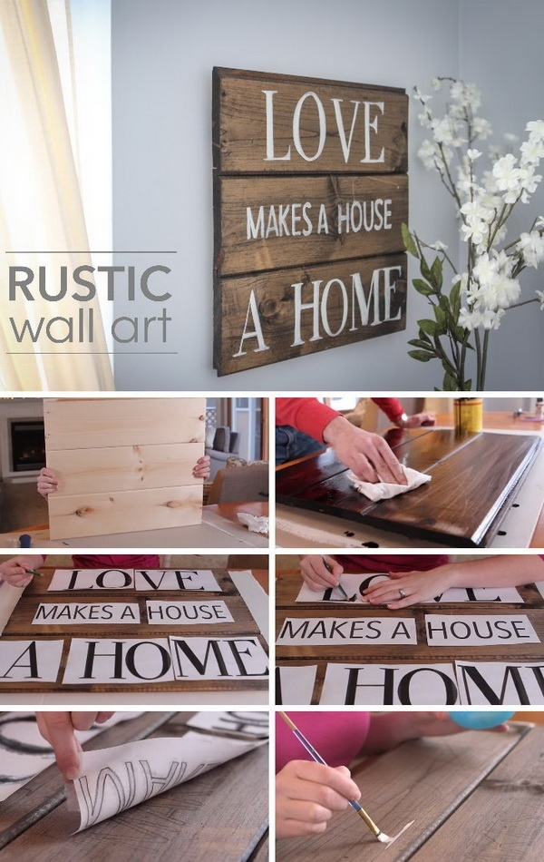 40+ Rustic Wall Decorations For Adding Warmth To Your Home – Hative Inside Rustic Wall Accents (Image 8 of 15)