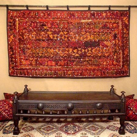 40 Splendid Design Ideas Cloth Wall Hangings | Panfan Site With Regard To Indian Fabric Art Wall Hangings (Photo 6 of 15)