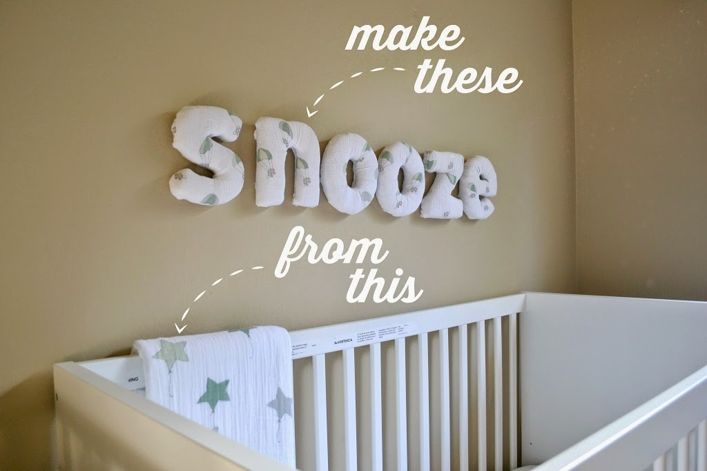 40 Sweet And Fun Diy Nursery Decor Design Ideas Regarding Fabric Wall Art Letters (Image 3 of 15)