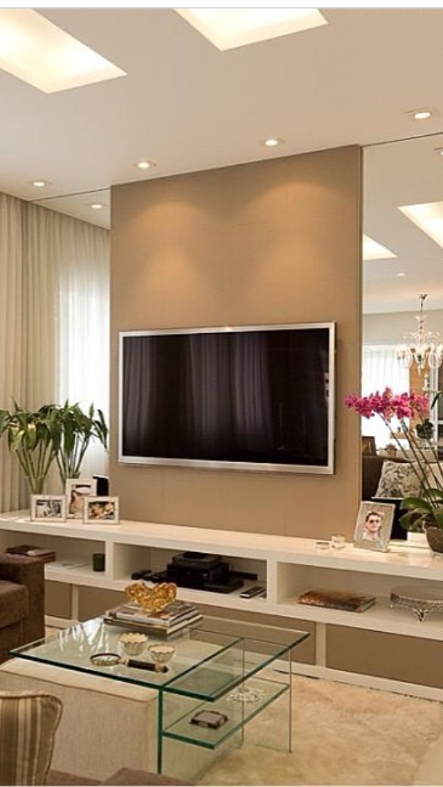 40 Tv Wall Decor Ideas | Tv Walls, Tvs And Walls With Regard To Wall Accents With Tv (Photo 8 of 15)