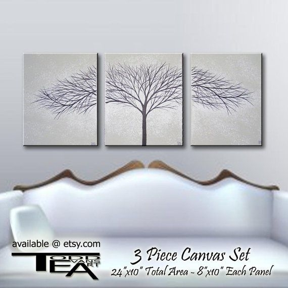 40 Unusual Idea Grey And White Wall Art | Panfan Site With Grey Canvas Wall Art (Image 2 of 15)