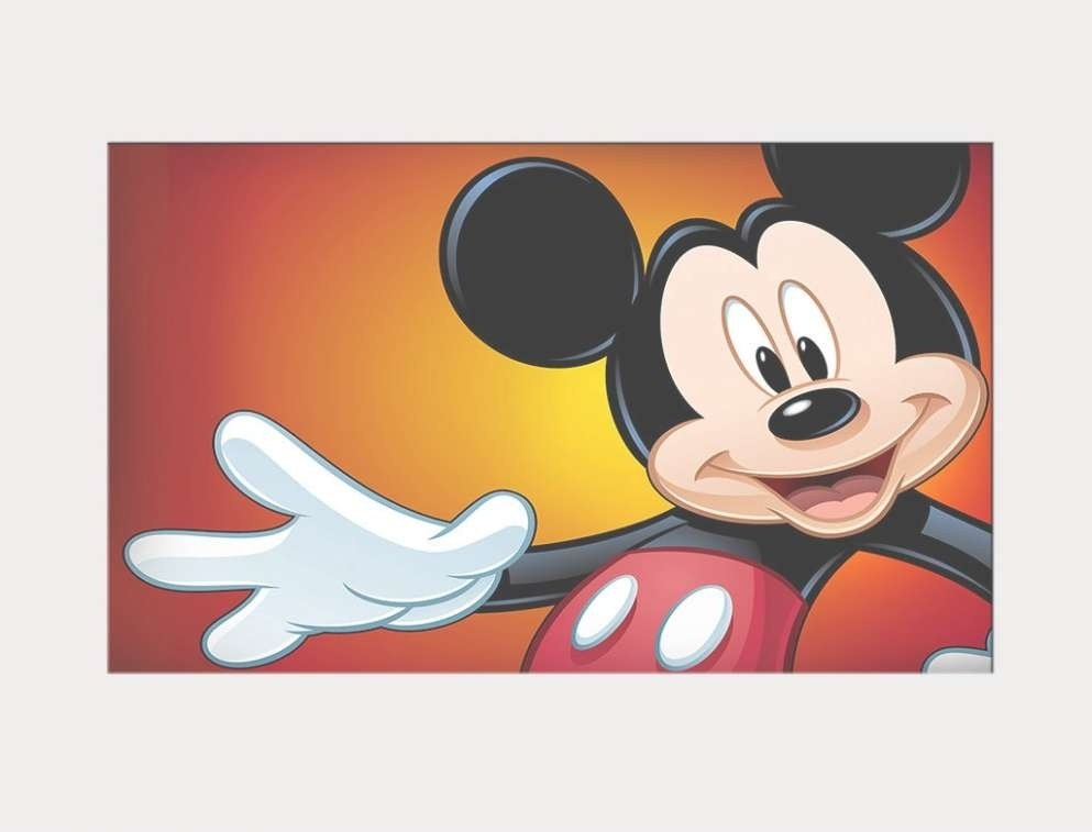 43 Ideas Of Mickey Mouse Canvas Wall Art In Mickey Mouse Canvas Wall Art (Photo 9 of 15)