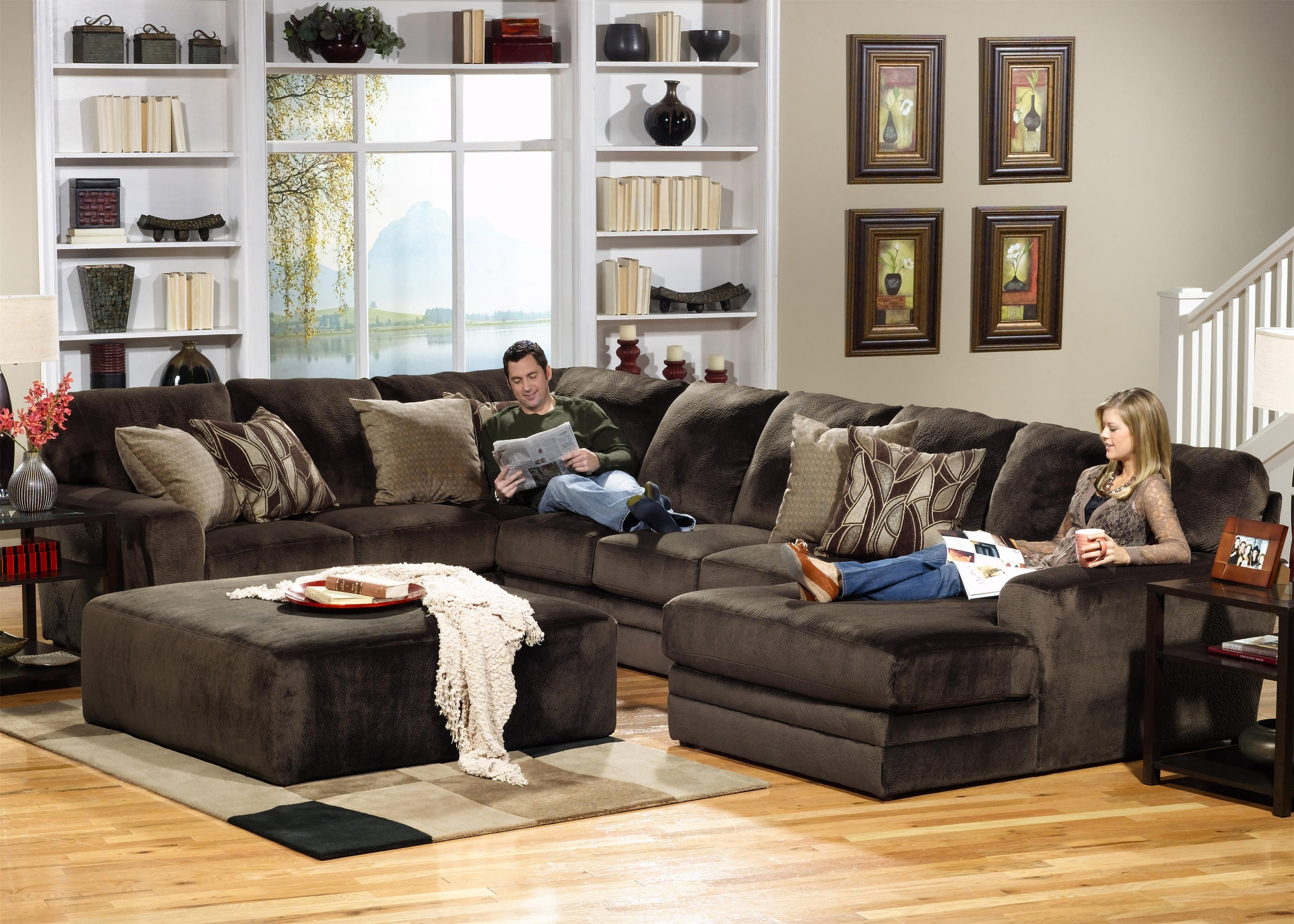 4377 Everest 3 Piece Sectional With Lsf Sectionjackson Furniture For Dayton Ohio Sectional Sofas (Image 1 of 10)