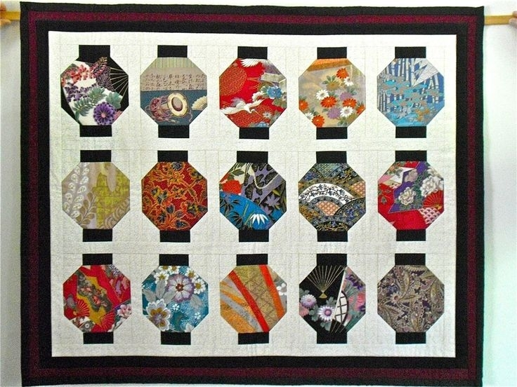 44 Best Lantern Quilts Images On Pinterest | Quilt Block Patterns for Asian Fabric Wall Art