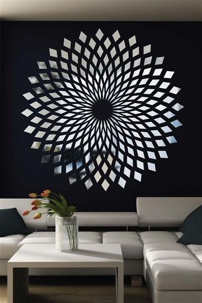 45 Inovative Ideas Of Mirrors And Wall Art | Diy Wall Art, Diy Throughout Wall Accent Decals (View 13 of 15)