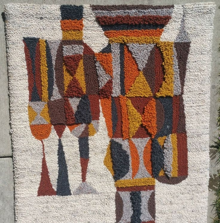 451 Best Textiles Images On Pinterest | Embroidery, Color Schemes Regarding Mid Century Textile Wall Art (Photo 5 of 15)