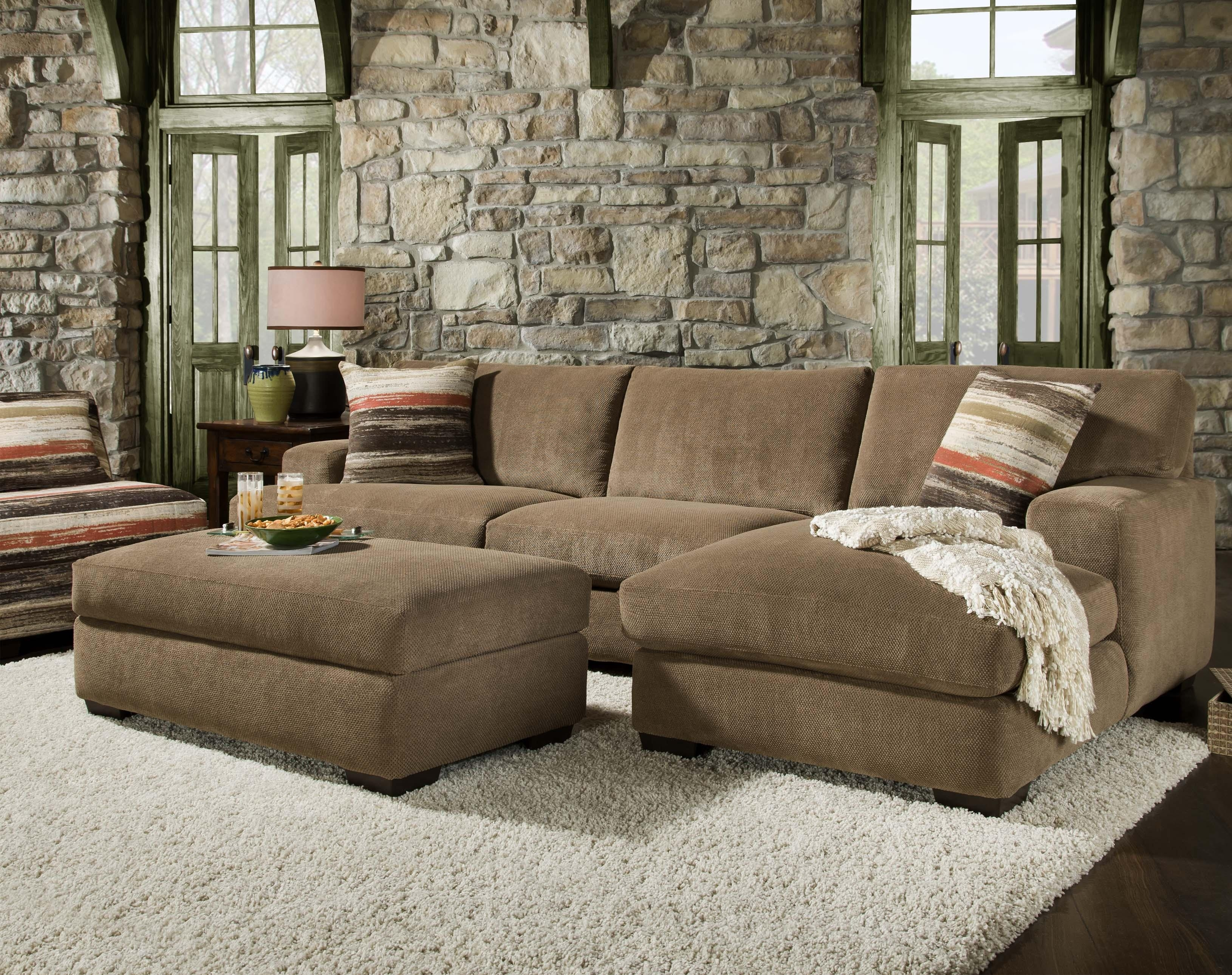 48B0 Small Sectional With Chaisecorinthian | Wolf Furniture Inside Small Sectional Sofas With Chaise And Ottoman (Image 1 of 10)