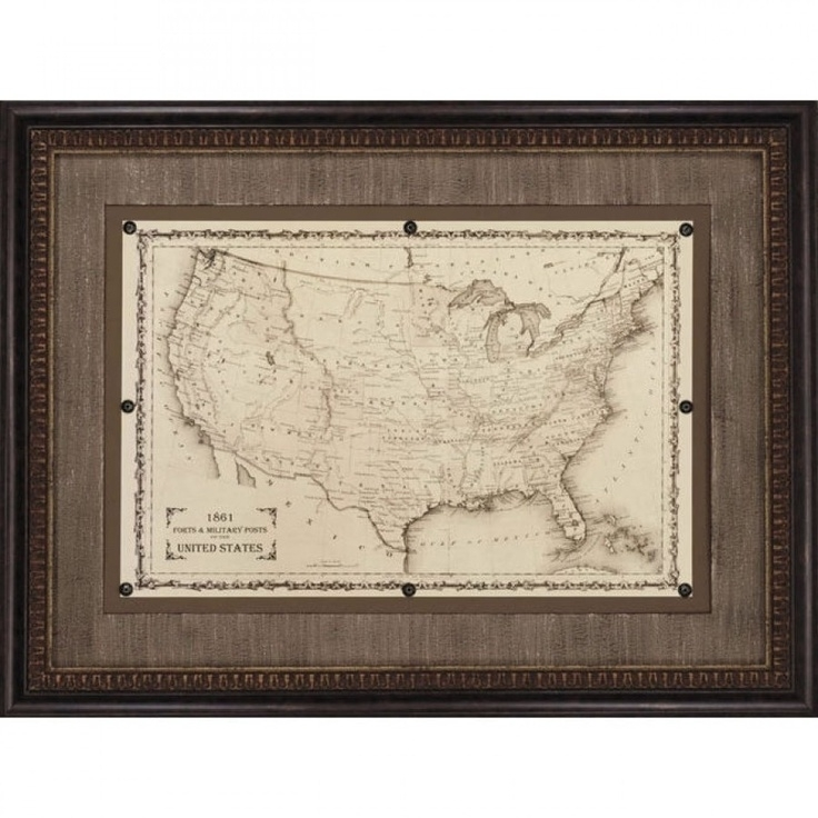 49 Best Antique Maps, Prints Images On Pinterest | Antique Maps Within Antique Framed Art Prints (Photo 10 of 15)
