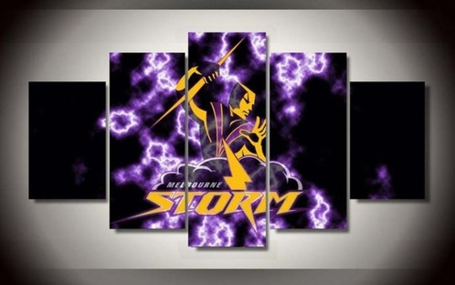5 Panel Melbourne Storm Canvas Wall Art | Welcome To Canvas Print Pertaining To Melbourne Canvas Wall Art (View 11 of 15)