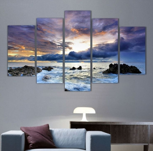 5 Panel Ocean Seascape Canvas Wall Art | Welcome To Canvas Print for Ocean Canvas Wall Art