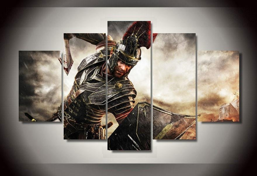 """5 Panel """"ryse"""" Son Of Rome Canvas Wall Art 