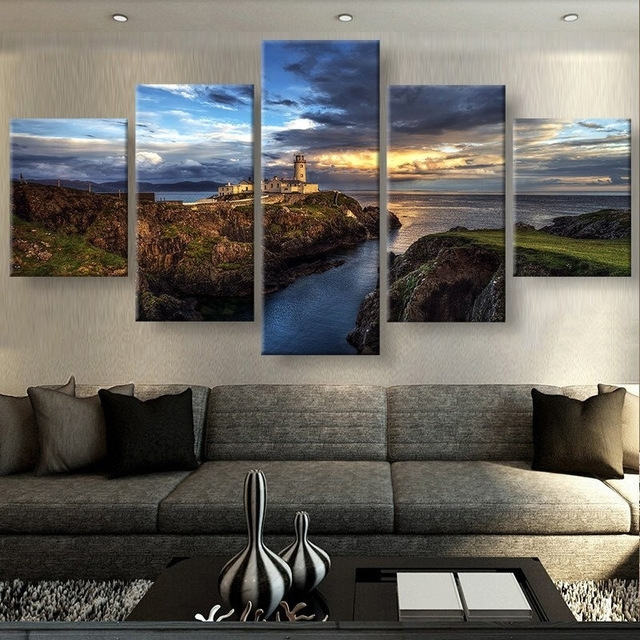5 Panels Canvas Prints Views Of Ireland Canvas Painting Poster within Ireland Canvas Wall Art