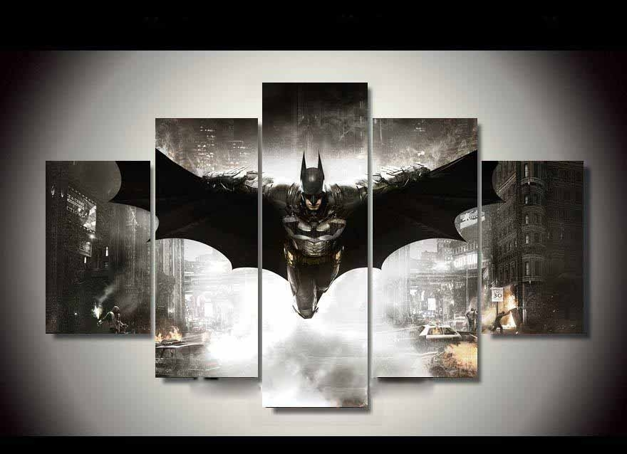 5 Piece Canvas Hd Batman Home Decor Dc World Shop Http pertaining to Movies Canvas Wall Art