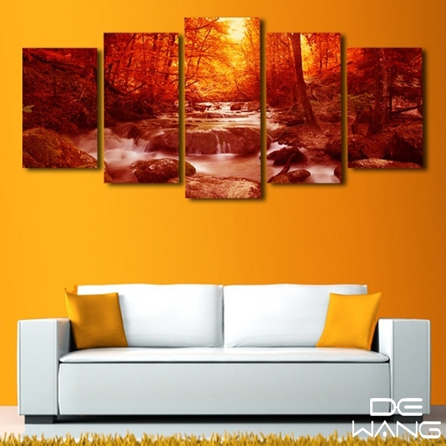 5 Piece Canvas Print Painting Modern Wall Art Home Decor Living In Nottingham Canvas Wall Art (View 15 of 15)