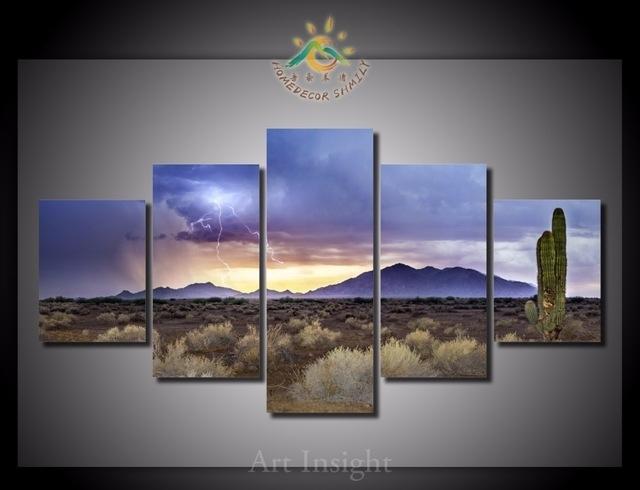 5 Pieces/set Arizona Monsoon Views Wall Art Paintings Picture in Arizona Canvas Wall Art