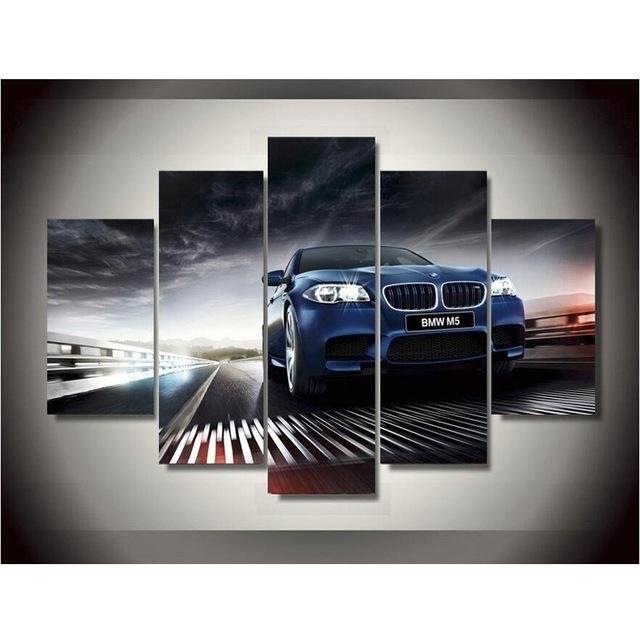 5 Plane Bmw Car Style Canvas Printing Wall Art Paintings Home in Bmw Canvas Wall Art