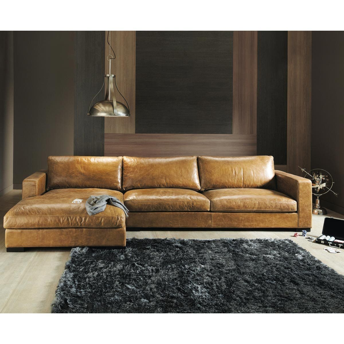 5 Seater Vintage Leather Corner Sofa, Camel | Sofa Seats, Leather With Regard To Camel Colored Sectional Sofas (Image 1 of 10)