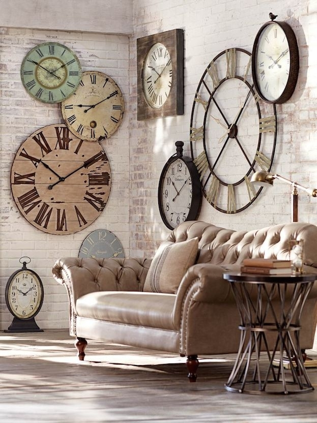 5 Ways To Spruce Up Bare Walls | Large Clock, Decorative Accents Within Clock Wall Accents (Image 7 of 15)