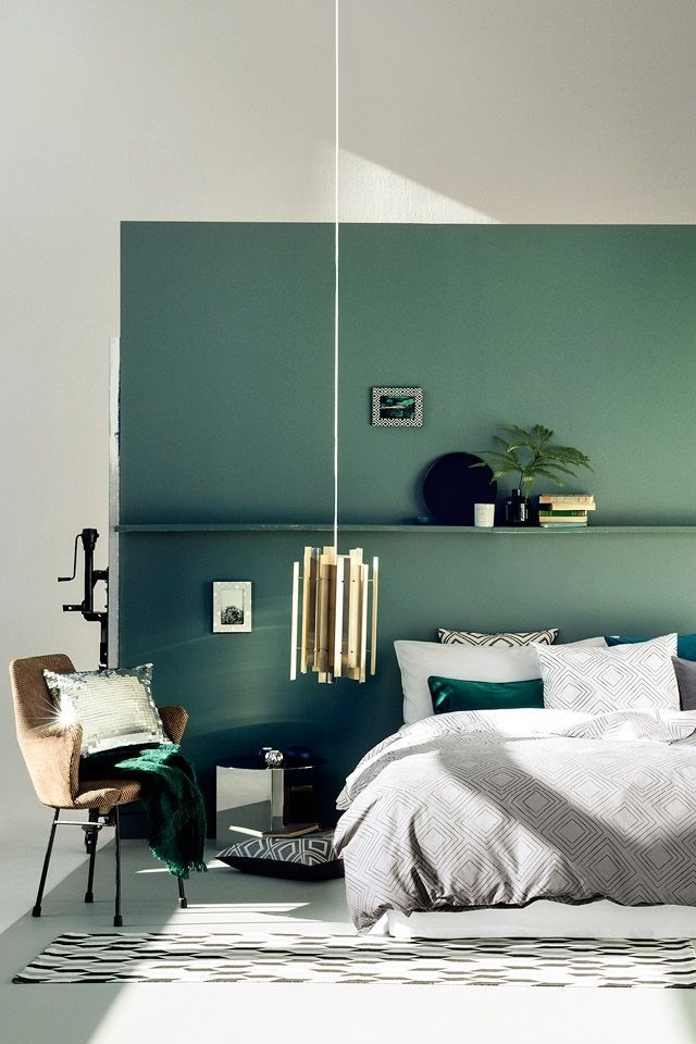 50 Turquoise Room Decorations Ideas And Inspirations | Decoration Within Green Wall Accents (Image 4 of 15)