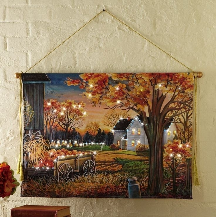51 Best Lighted Canvas Art Images On Pinterest | Christmas Crafts intended for Halloween Led Canvas Wall Art
