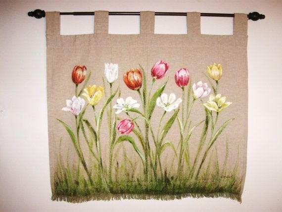 51 Best My Mother's Art :) Images On Pinterest | Cushion Covers With Floral Fabric Wall Art (Image 4 of 15)