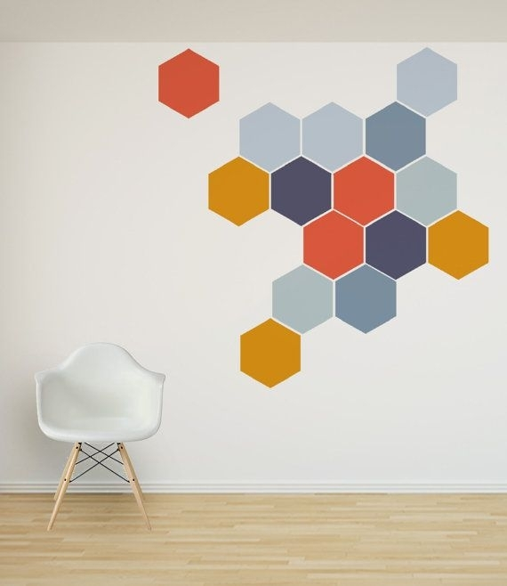 52 Best Honeycomb Wall Decals Images On Pinterest | Wall Decal Pertaining To Fabric Wall Art Stickers (Image 3 of 15)