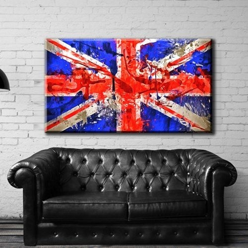 54 Best Canvas Print Artwork Stretched Gallery Wrapped Wall Art With Regard To Union Jack Canvas Wall Art (Image 4 of 15)