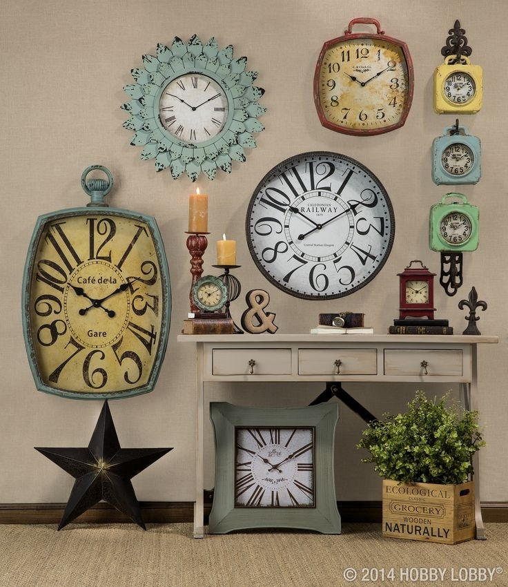 55 Best Home Lobby Decoration Ideas Images On Pinterest | Interior Regarding Clock Wall Accents (Image 8 of 15)