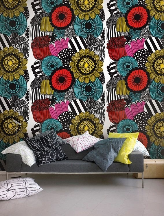 55 Best Marimekko Images On Pinterest | Marimekko, Dinnerware And Intended For Marimekko 'kevatjuhla' Fabric Wall Art (Photo 13 of 15)