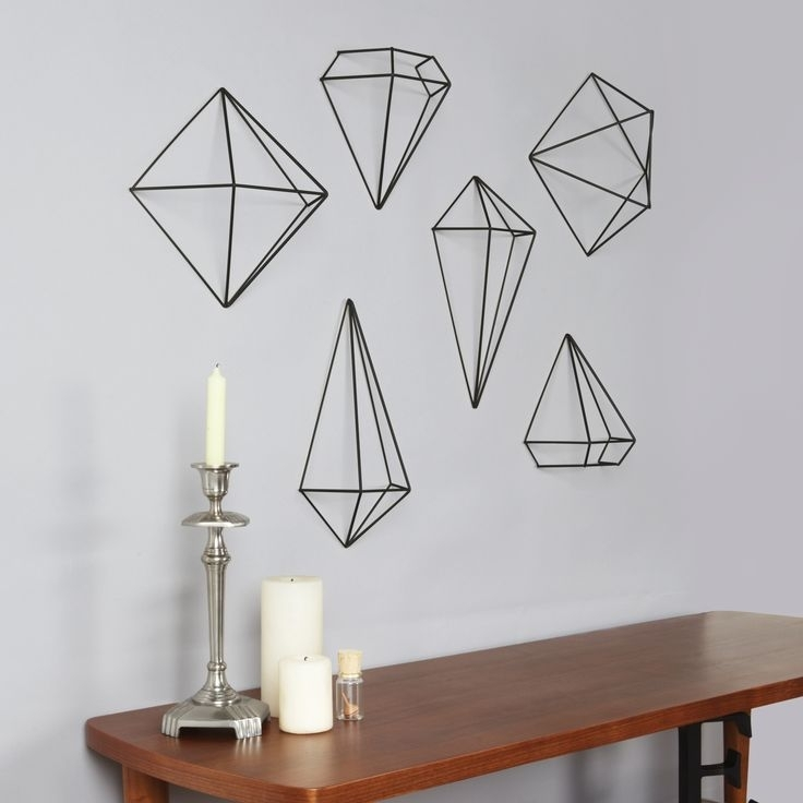 56 Best Wall Decor Images On Pinterest | Wall Decals, Wall Decor Intended For Geometric Shapes Wall Accents (View 2 of 15)