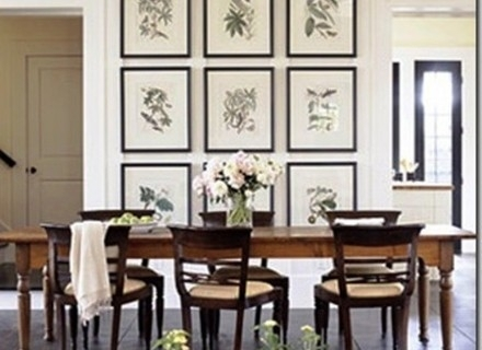 56 Wall Art For Dining Room, Ahangingcurtain Dining Room Wall 442 pertaining to Wall Accents For Dining Room