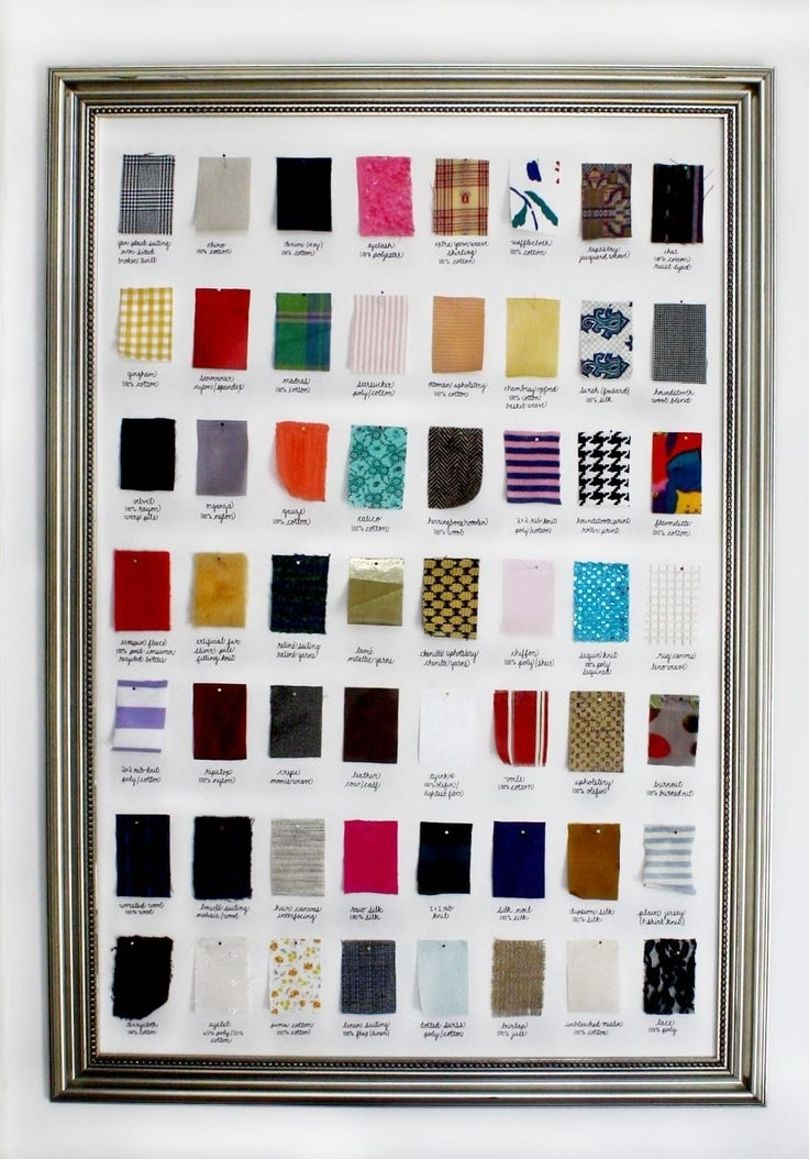 57 Best Fabric Swatch Storage Images On Pinterest | Furniture Regarding Fabric Swatch Wall Art (Image 3 of 15)