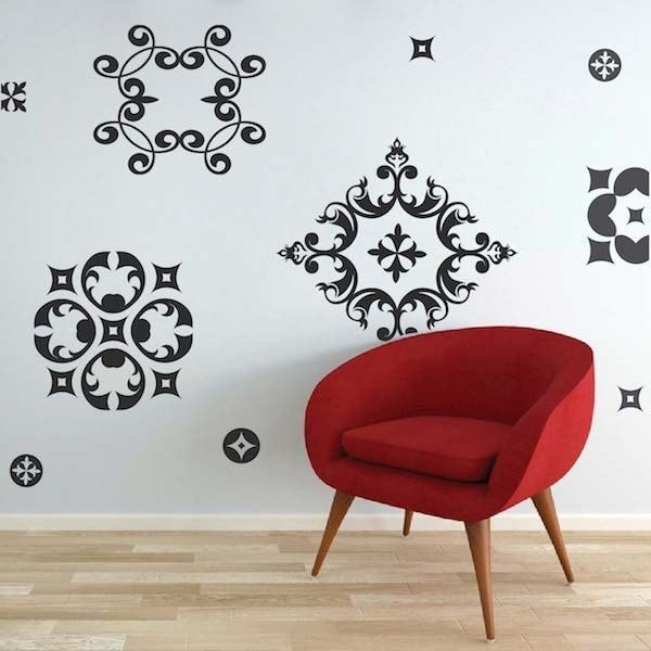 57 Best Ornament Wall Decals Images On Pinterest | Wall Design Regarding Wall Accents Stickers (View 13 of 15)