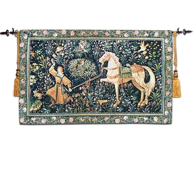 57*97Cm Wall Tapestry Wall Hanging Belgium Arts Tapestry Fabric throughout Moroccan Fabric Wall Art