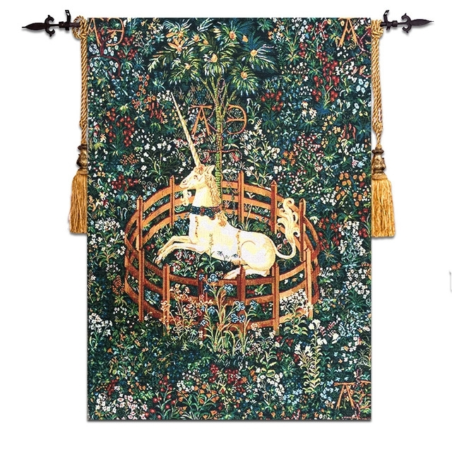 58*80Cm Unicorn Design Wall Tapestry Picture Fabric Wall Hanging throughout Moroccan Fabric Wall Art