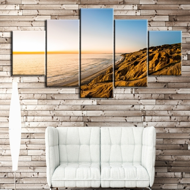 5Pcs The Gold Coast Printed Canvas Picture Oil Painting On Canvas With Regard To Gold Coast Canvas Wall Art (Image 2 of 15)