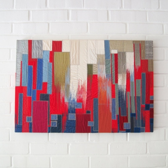 6 Abstract Textile Artists - Textileartist for Abstract Textile Wall Art